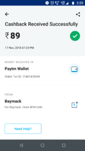 Baymack Payment Proof